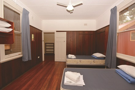 Bungalow accommodation bedroom