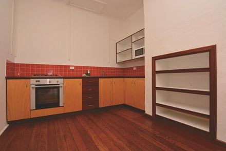Bungalow accommodation kitchen