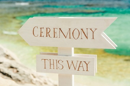 Rottnest Island wedding ceremony at The Basin