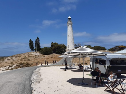 View of Wadjemup Lighthouse on Rottnest Lighthouse