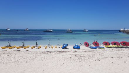 Seabikes, pedal boards and inflatable jet skis from Aquaplay Rottnest