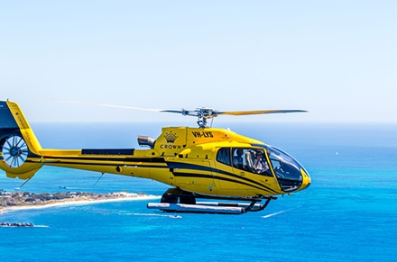 Helicopter Flight around Rottnest Island with Corsaire Aviation