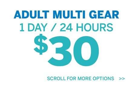 Adult Multi Gear 1 Day 24 hours $30