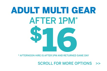 Adult Multi Gear After 1pm $16