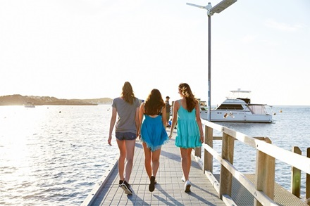 Teenagers on Thomson Bay Jetty